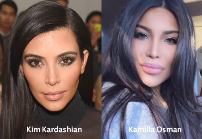 kamilla osman bears a strking resemblance to kim kardashian