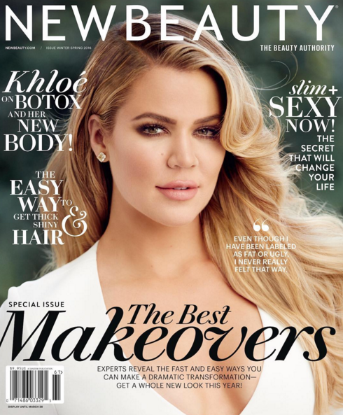 Khloe Kardashian looking great on magazine cover