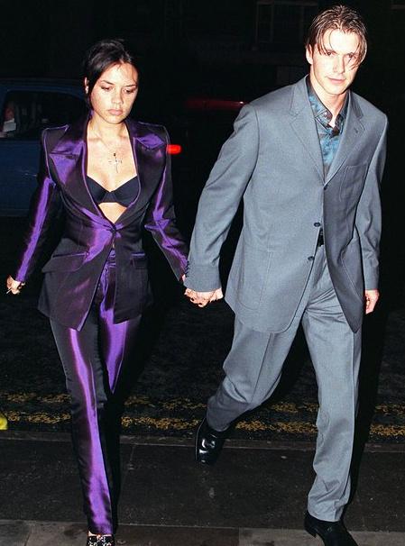 Victoria Beckham with david beckham 1997