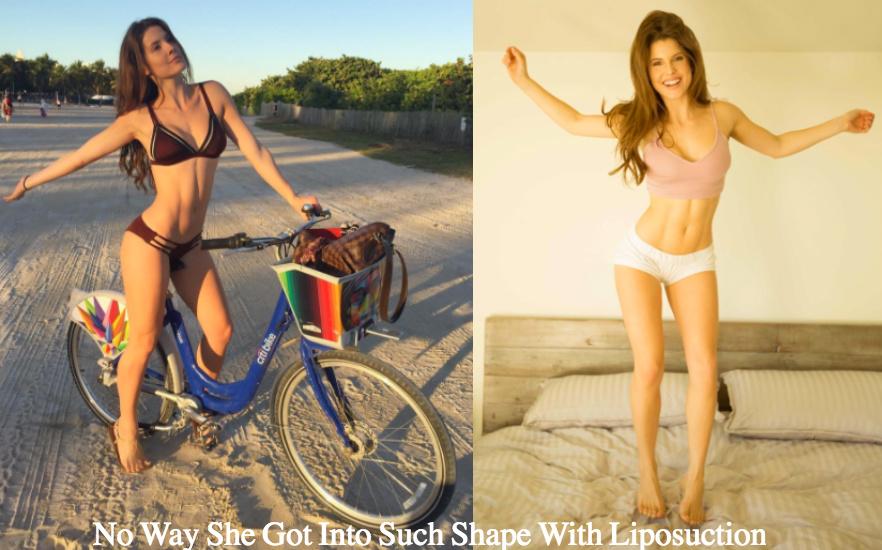 Amanda Cerny Liposuction great shape
