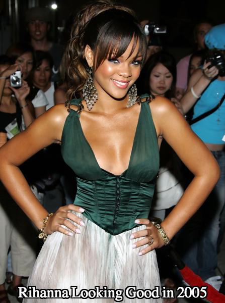 Rihanna boob job 2005