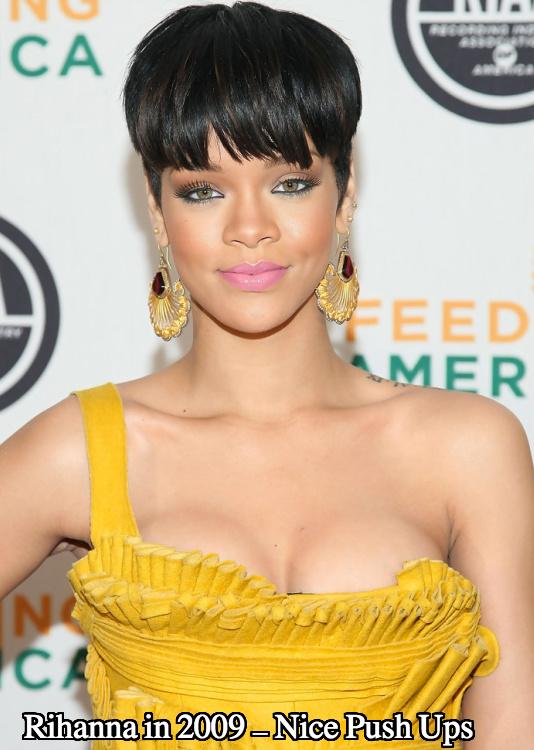 Rihanna boob job 2009