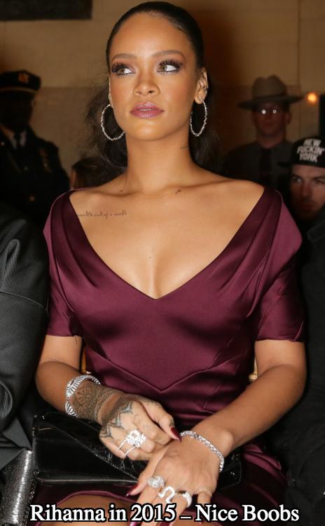 Rihanna boob job 2015