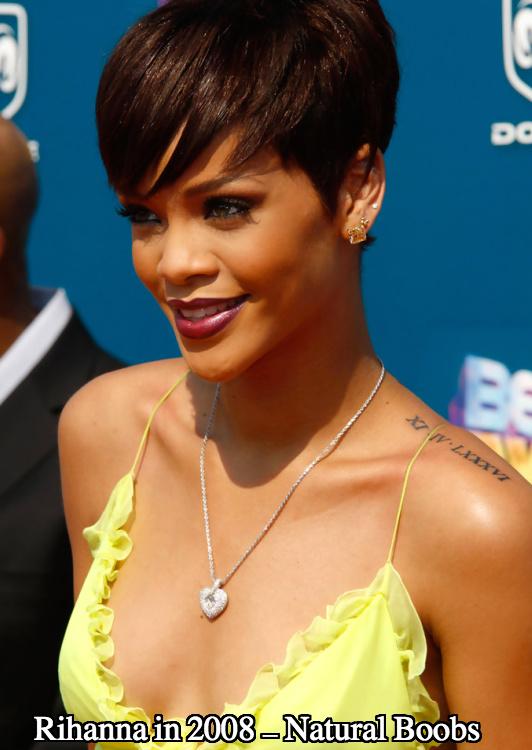 Rihanna boob job june 2008